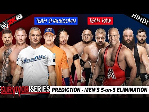 WWE 2K18 (Hindi) SURVIVOR SERIES 2017 - Team Raw vs Team Smackdown - 5 on 5 Elimination (PS4 Pro)