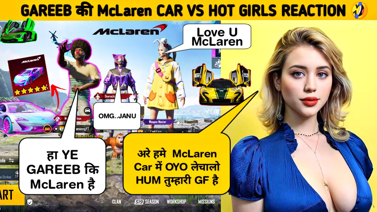 🔥RANDOM 2 GIRLS REACTION ON MCLAREN NEW CAR 🤣SAMSUNG,A3,A5,A6,A7,J2,J5,J7,S5,S6,S7,59,A10,A20,REALME