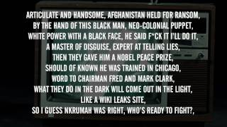 Lowkey - Obama Nation Part 2 ft. M1 (Dead Prez) & Black the Ripper (With Lyrics on Screen) ᴴᴰ
