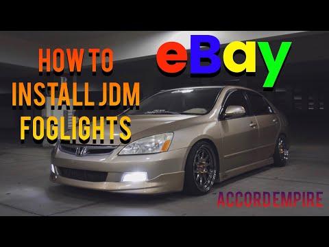 How to Install eBay JDM Fog Lights on a Honda Accord
