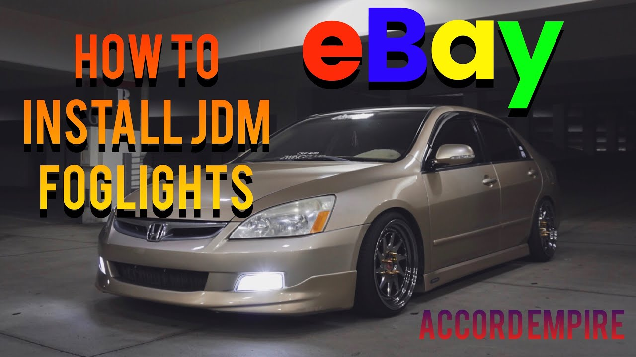 How To Install Ebay Jdm Fog Lights On A Honda Accord Youtube Rat Rod Wiring Harness