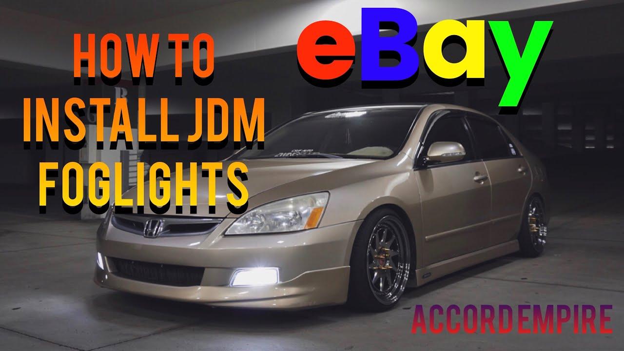 how to install ebay jdm fog lights on a honda accord [ 1280 x 720 Pixel ]