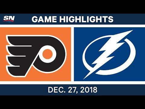 NHL Highlights | Flyers vs. Lightning - Dec 27, 2018