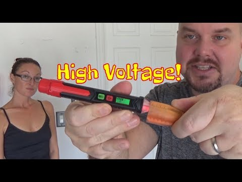Review || Non-Contact Voltage Detector LCD Pen 12~1,000V