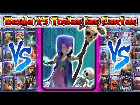 Bruja VS TODAS las Cartas   Clash Royale