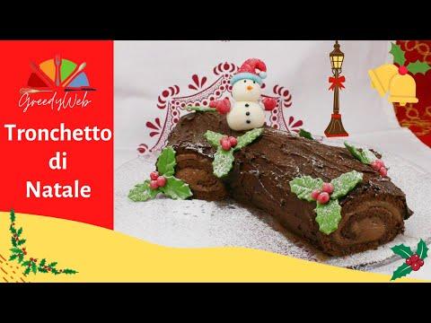 Tronco Di Natale Youtube.Tronchetto Di Natale Con Ganache Al Cioccolato Youtube