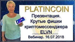 🎯 PlatinCoin. Платинкойн. Вебинар. Презентация. Криптомессенджер ELVN