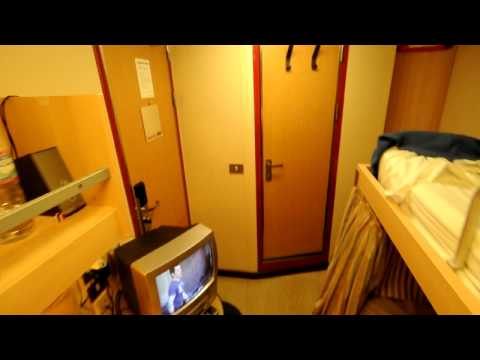 Crew cabin on Carnival Victory