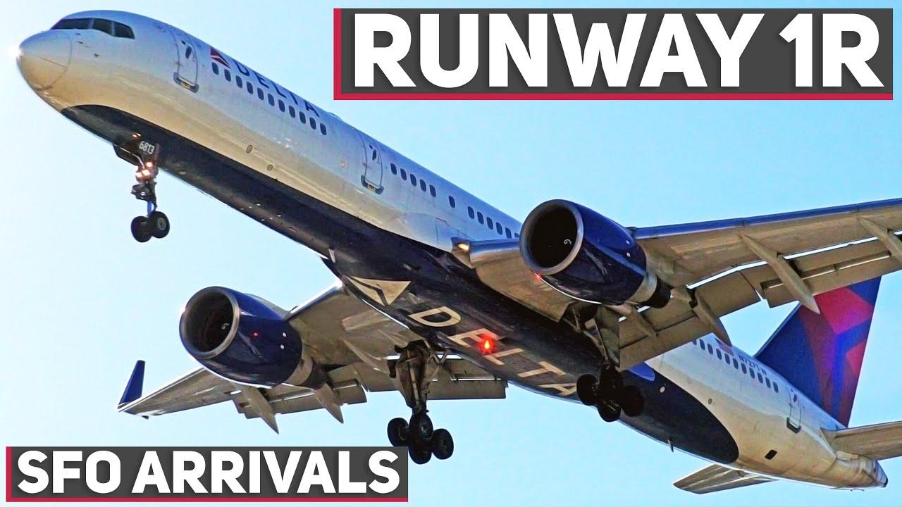 Download [4K] AWESOME AND RARE Runway 1 Landings at San Francisco International Airport