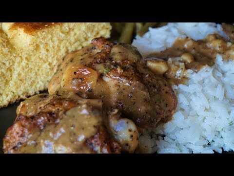 Rustic Chicken in Garlic Gravy | One Skillet Meal
