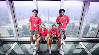 Is Lacazette scared of heights? | Arsenal Tour 2017