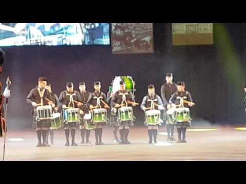 The Owl Town Pipe & Drum Band auf bei der 53. Musikschau der Nationen