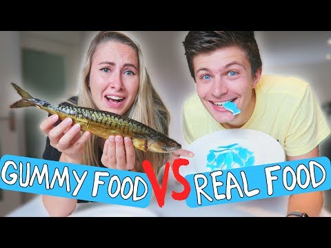 GUMMY FOOD vs REAL FOOD #2