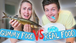 GUMMY FOOD vs REAL FOOD #2