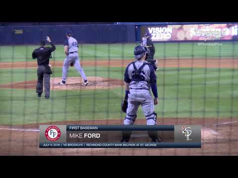 4K Video, Mike Ford, First Baseman, Staten Island Yankees, Home Run, 7th Inning, July 9