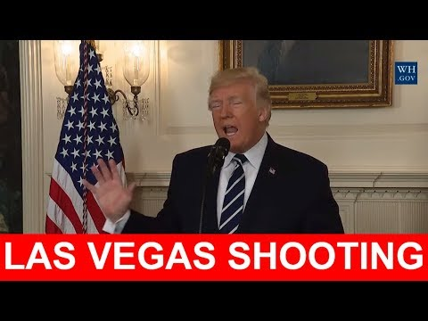 LAS VEGAS SHOOTING: President Donald Trump Speech After Las Vegas Shooting, 2 Okt 2017, Mandalay Bay