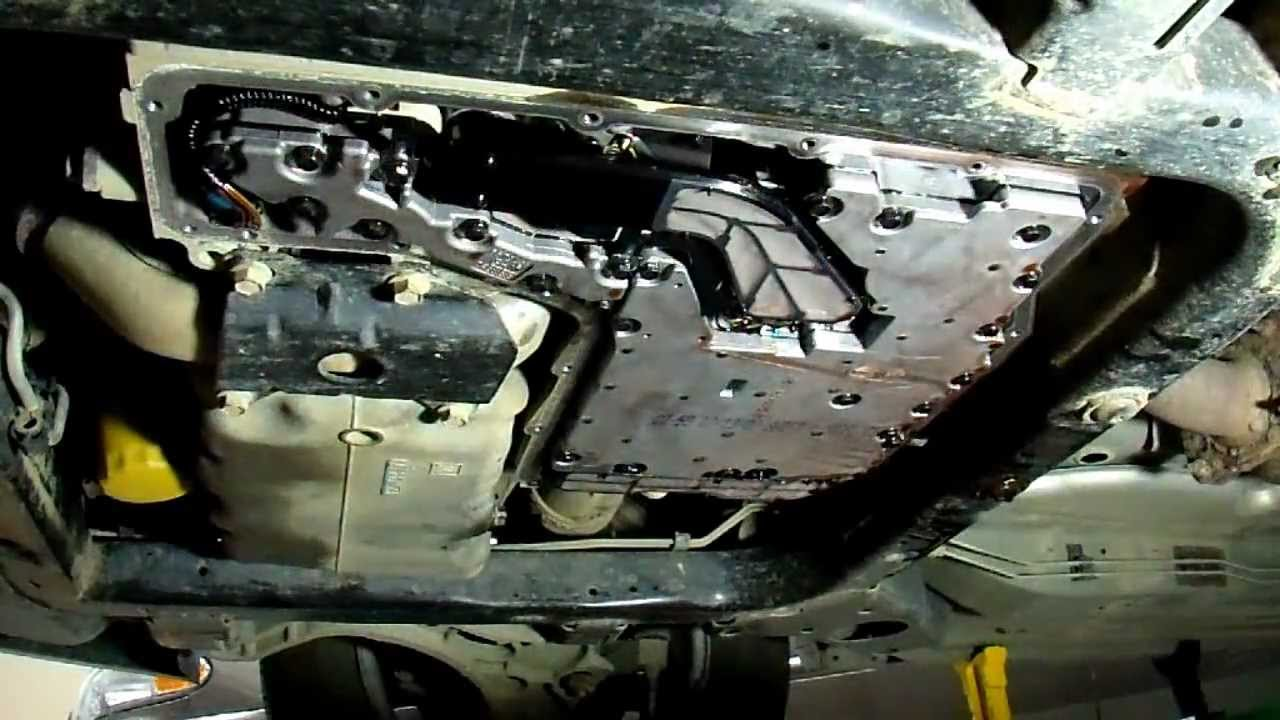 Transmission Fluid Leak >> Change Transmission Fluid pan removal Cadillac Seville part1 - YouTube