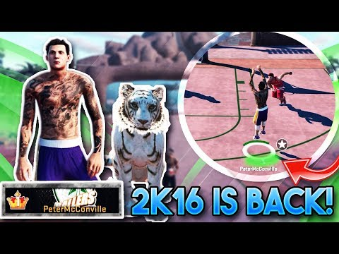 NBA 2K16 IS BACK!! LEGEND 5 TIGER + PeterMc At The Park! (NBA 2K16 Throwback)