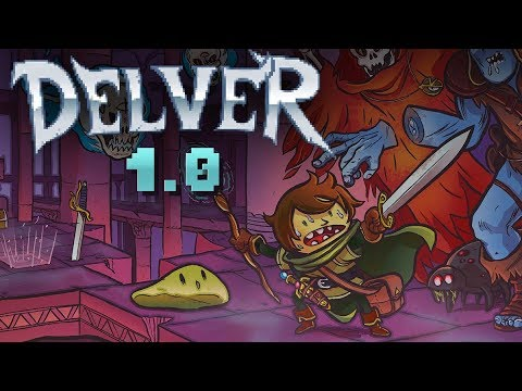 Delver - MY WOOD BOWL is a DEADLY WEAPON!! - 1st-Person Action Rogue-like - Delver Gameplay