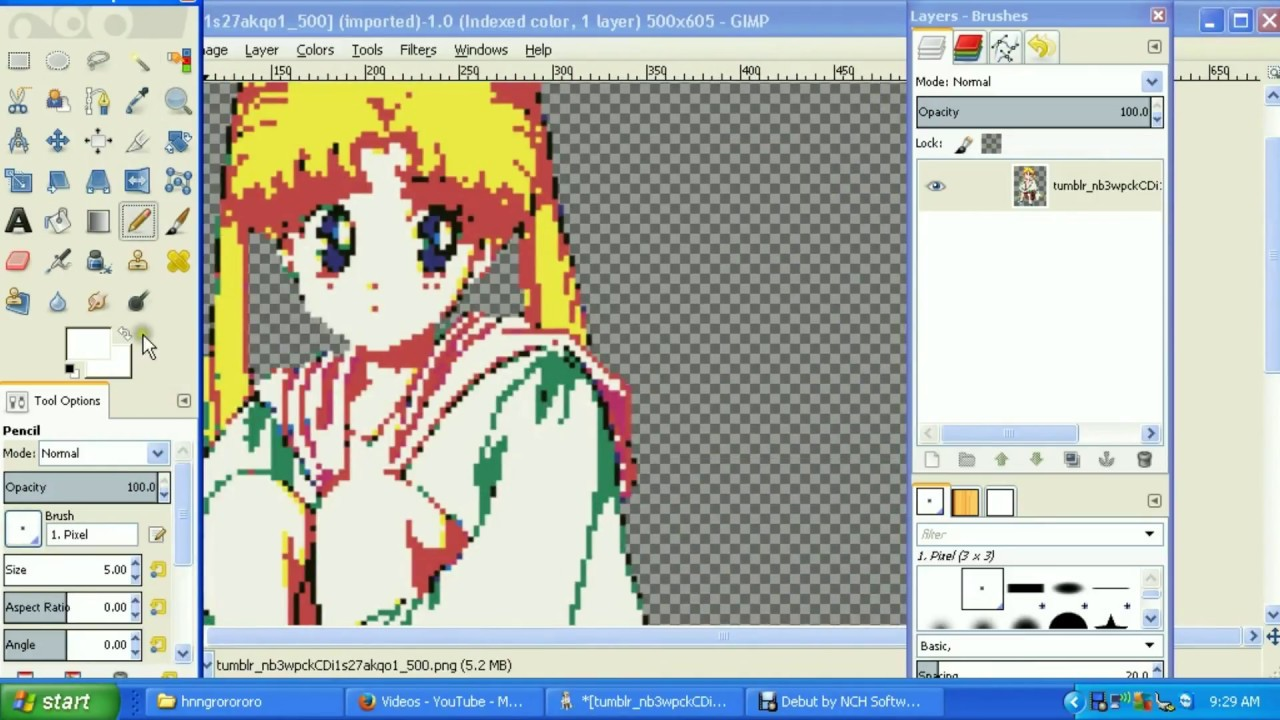 How To Make A Picture Become Pixel Art In Gimp 28 Easy 3 Steps Method Description Box