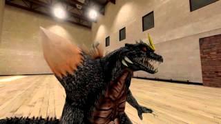 [SFM Godzilla/Undertale] Spacegodzilla meets Sans