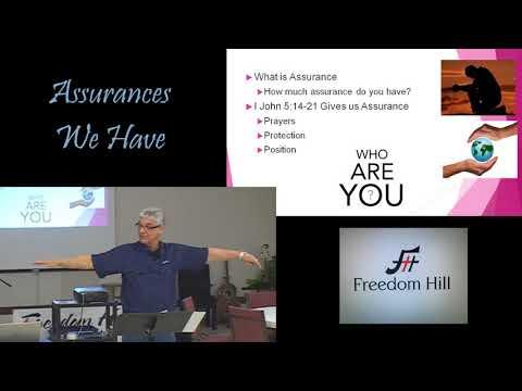 04/04/2018 Bible Study: Assurances We Have