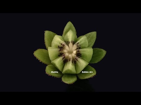 Beautiful Kiwi Fruit Lotus Flower - Beginners Lesson 3 By Mutita Art In Fruit And Vegetable Carving
