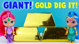 GIANT Super Gold Dig It Boxes with Shimmer and Shine