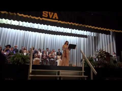 Shenandoah Valley Academy Class Night 2016  Featuring Victoria Rios, Violin