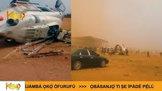 WATCH: footage apparently shows moment Nigeria's vice president, Osinbajo's helicopter crash