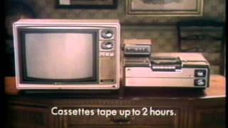 TV Commercial for the Sony Betamax VCR (#1) - 1977!