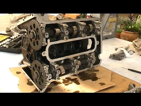 BMW K75 rebuild 6/ engine head ported and assembly