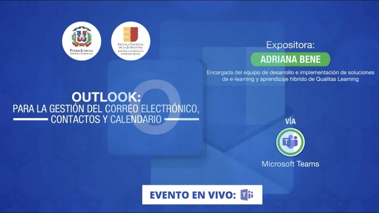 Webinar Outlook: para la gestión del correo electrónico, contactos y calendario