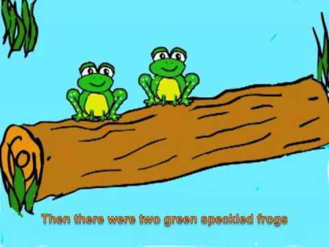 Raffis Five Green and Speckled Frogs With Lyrics