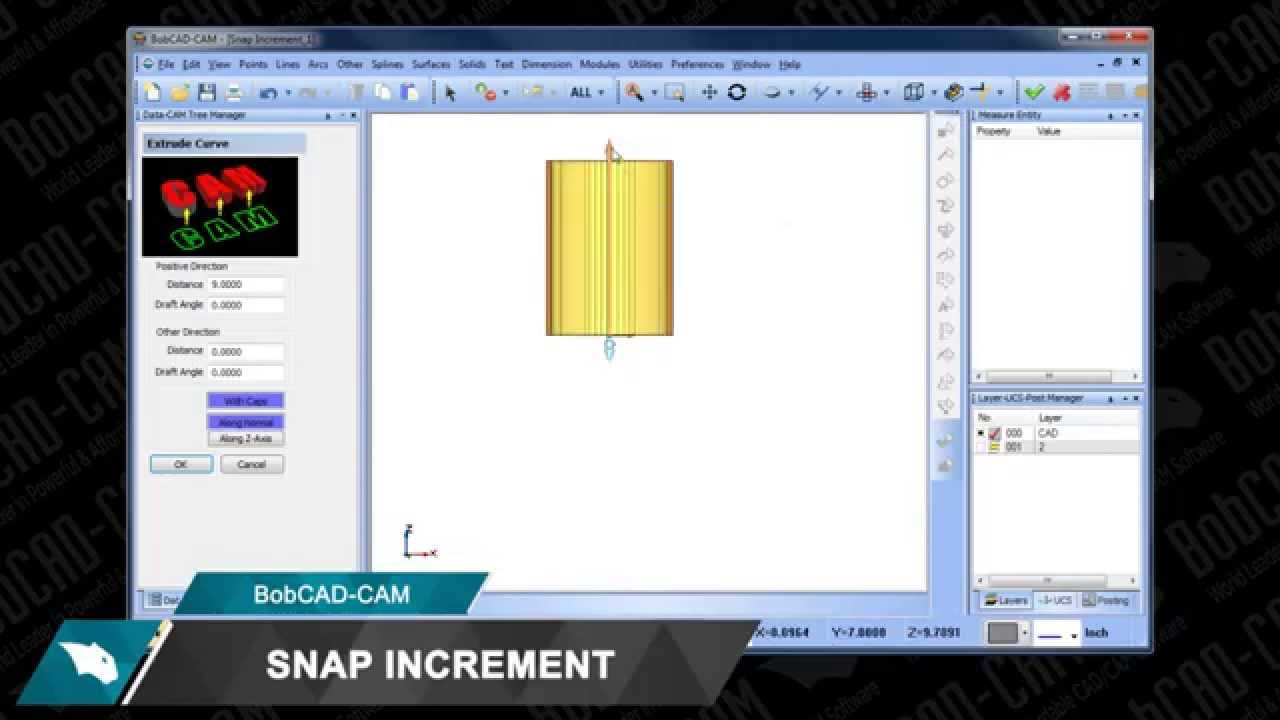 Dynamic Drawing Snap Increment Included with New V28 CAD-CAM