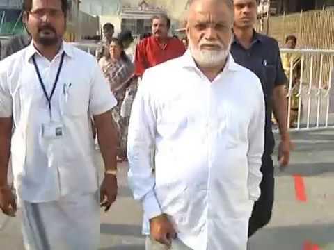 ISRO Ex.Chairman DR.K.RADHAKRISHNAN...in Tirumala.
