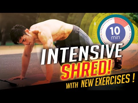 [Level 3] 10 Minute Intensive Fat Burning With New Exercises!