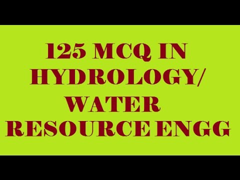 HYDROLOGY || WATER RESOURCE ENGG || 125 OBJECTIVE QUESTIONS AND ANSWERS || 2016