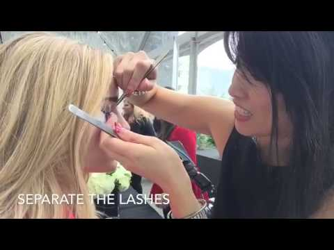 Semi permanent mascara with Brianne Howey at the Style Lounge
