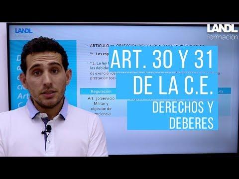 De los derechos y deberes de los ciudadanos Art. 30 y 31 de la CE