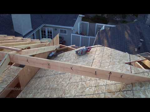 How to Install Roof Framing Fill for New Home Construction and Home Additions