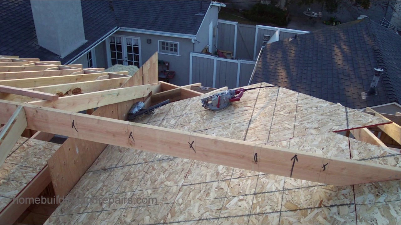 How To Install Roof Framing Fill For New Home Construction