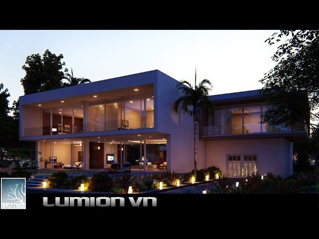 Garden Villa Project | sketchup model and lumion 8