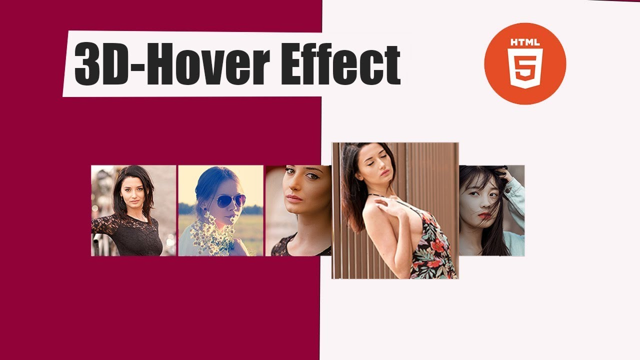 css 3 - Amazing Hover effects || Short video || website design