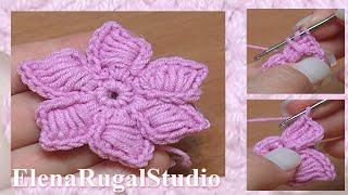 Crochet 6-Petal Flower Урок 44 Вязаные цветы(http://sheru.ru Маленькие, нежные и очень милые цветочки, связанные крючком. Именно им посвящен этот урок. Лепестки..., 2013-08-20T07:56:38.000Z)