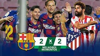 Барселона Атлетико 2 2 30 06 2020 Полный Обзор Матча Все Голы и Опасные Моменты FHD 1080