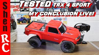 LIVE TRAXXAS TRX 4 SPORT MY CONCLUSION IS IT ANY GOOD?