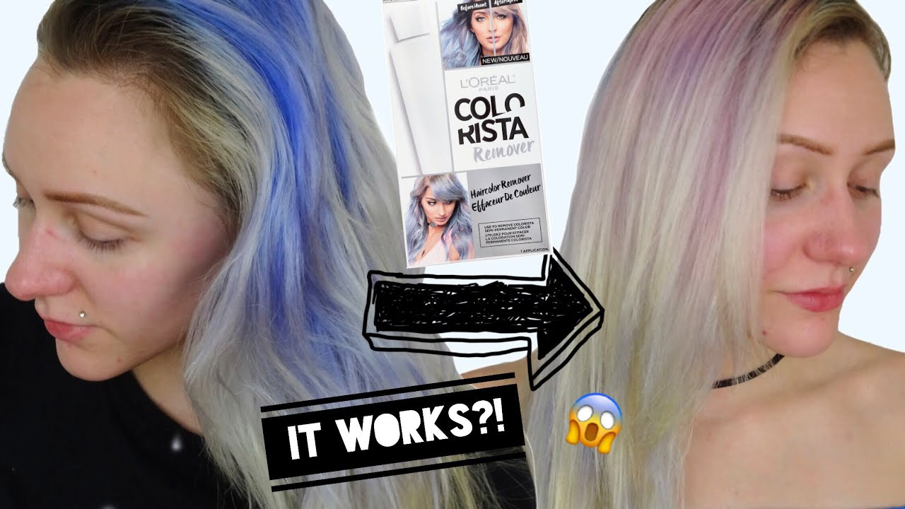 Colorista Color Remover Stripping Hair Color Part 2 Youtube