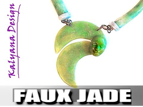 258 Polymer clay tutorial - Faux jade (ver 2) Premo and Pardo + bonus