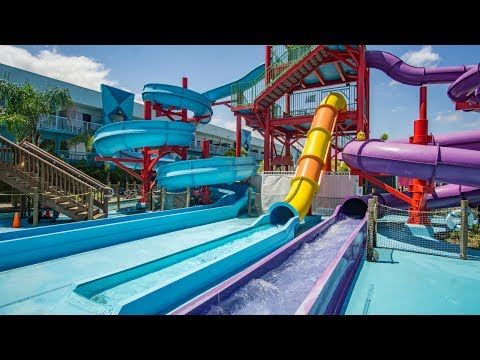 Flamingo Waterpark Resort - Freefall Waterslide | Speed Slide Onride POV